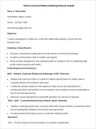 telecoms customer relationship manager resume template telecom resume examples