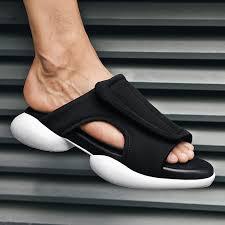 New Trend <b>Men Summer</b> Slippers Comfortable Outdoor Slippers ...