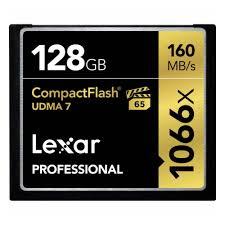 <b>Карта</b> памяти <b>CF 128Gb</b> Lexar Professional 1066x (160/155 Mb/s ...