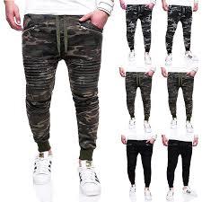 <b>Mens</b> Camouflage Multi-pocket Jogger <b>Trousers</b> Casual <b>Autumn</b> ...