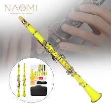 <b>NAOMI</b> ABS Clarinet Kit Professional Bb <b>17 Key</b> Clarinet W/ Clarinet ...