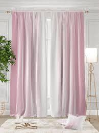 Комплект штор Томдом <b>Ланджит</b> 260х300см, <b>розовый</b>, белый ...