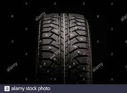 Krasnoyarsk, Russia, August 19, 2020: new winter studded tires ...