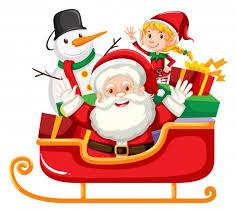 Санта сани Векторы, фото и PSD файлы | Скачать
