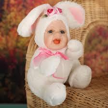 """Кукла коллекционная керамика """"<b>Малыш в костюме зайчика</b> сидит ..."""