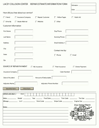 auto body estimate template excel template com auto body estimate template excel