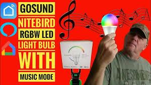 Gosund <b>WB4 NiteBird Smart LED</b> RGBW Dimmable Music Mode ...