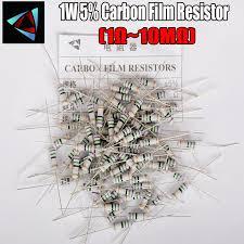 <b>20pcs</b> 1W 1R~10M 5% Carbon Film Resistor 1K <b>1.5K</b> 2.2K 4.7K 10K ...