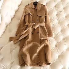 <b>2018 New Winter</b> Long Cashmere Coat <b>Women</b> Trench Coat ...