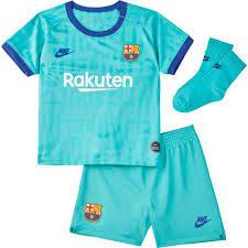 Nike FC Barcelona 3rd <b>Breathe Kit</b> 19/20 Infant Голубой, Goalinn ...