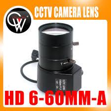 "HD <b>1/3</b>"" <b>6</b>-<b>60mm</b> F1.6 <b>CS</b> Mount DC Auto Iris Varifocal IR <b>CCTV</b> Lens"