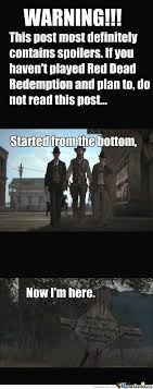 Spoiler Alert: Red Dead Redemption by gabe2234 - Meme Center via Relatably.com