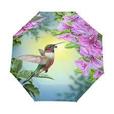 WXLIFE Flower Leaves Hummingbird Auto Folding ... - Amazon.com