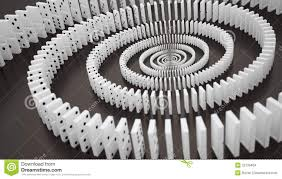 domino effect stock images image  domino effect