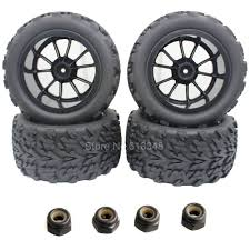 <b>4pcs</b>/<b>Lot</b> 3.2 Rubber RC Truck Tires & <b>Wheel</b> Rim For Exceed Infinity ...