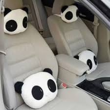 Lovely Creative Panda <b>Auto Car</b> Neck <b>Rest</b> Cushion Headrest ...