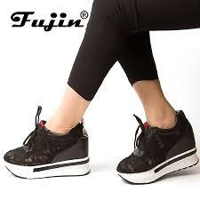 <b>Fujin Brand 2019</b> Hidden Heel Lace Mesh Spring <b>Summer</b> Autumn ...