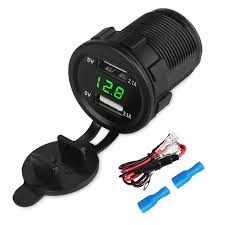<b>Waterproof</b> 2.1A <b>Motorcycle Car</b> Charger 12V 24V Dual <b>Usb</b> Auto ...