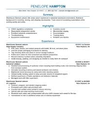 production resume examples production sample resumes livecareer general labor resume example