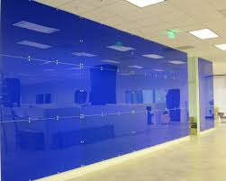 acrylics wall colors and blue on pinterest blue curved office desk dividers