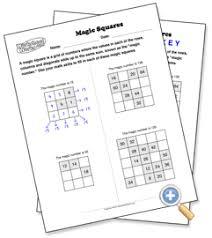Magic Squares - WorksheetWorks.com