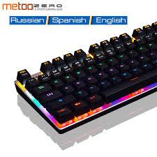 <b>Metoo ZERO Mechanical Keyboard Gaming</b> Key Board 104 Keys ...