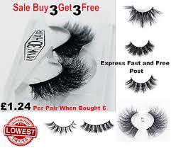 <b>3D</b> Mink <b>Eyelashes Pairs</b> natural False Long Thick Handmade ...