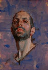best ideas about portrait sketches pencil self portrait kerry dunn oil on board contemporary artist male head bearded man face cropped painting kerrydunnpaintingaday pot ca