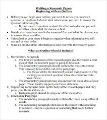 research paper outline template   download free documents in pdf research paper outline template