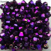 strebelle 200pcs 5301 bicone crystal glass loose beads 6mm clear ab color drop shipping