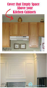 kitchen moldings: how to close the space above the kitchen cabinets with mdf and moldings
