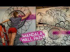 tree wall decor art youtube: mandala wall art no stencils youtube try a chalkboard paint wall and chalk version