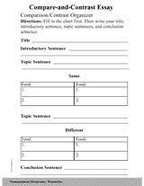 images about compare contrast essay on pinterest   writing    it includes a sample compare and contrast chart  a blank compare and contrast chart  and four stages of revision to a sample compare and contrast essay