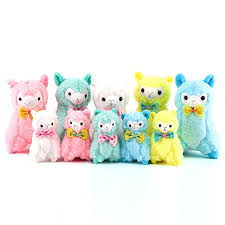 1 Pcs Color Random Kawaii Mini Colorful <b>Alpaca Plush Toy Stuffed</b> ...