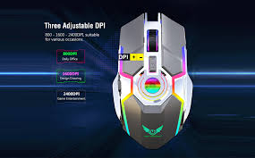 ZERODATE T30 <b>Gaming Mouse</b> 2.4G Wireless <b>Charging</b> Mouse ...