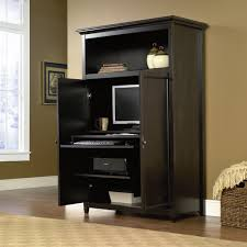 home office desk armoire pretty black wooden computer armoire with door by sauder furniture on wooden black home office desk