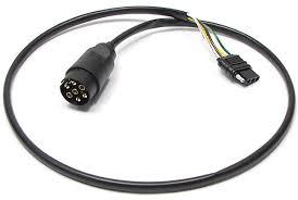 trailer wiring adapter 7 way euro round to flat 4 conversion plug trailer wiring adapter