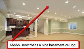 basement drop ceiling vs drywall best basement lighting