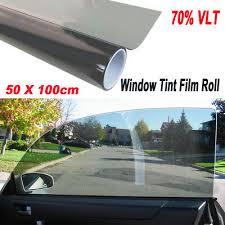 <b>1 Roll 50cm</b>*1M Black Glass Window Tint Shade Film VLT 70% <b>Auto</b> ...