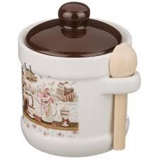 Купить Сахарница с ложкой <b>AGNESS COFFEE</b> 358-906 <b>300мл</b> по ...
