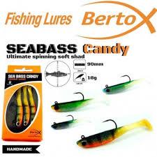 BERTOX HANDMADE NATURAL <b>SOFT SHAD LURE</b> SEABASS ...