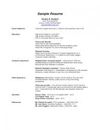 high school resume for jobs high school resume objective examples how to write a resume in high school how to write a resume for highschool students