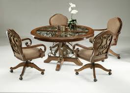 dinette sets caster chairs dining room dining chairs casters room wheels dining lovely dining room chairs din