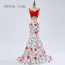 crystal jiang 2018 mermaid evening gown scoop collar luxury gold beads women formal sweep train