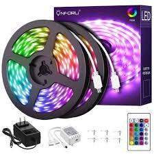 Onforu 65.6ft <b>RGB LED</b> Strip Lights Kit, <b>20m</b> Color Changing ...