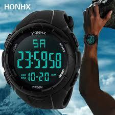 <b>HONHX Men's</b> Electronic Watch Negative Black Face Black Screen ...