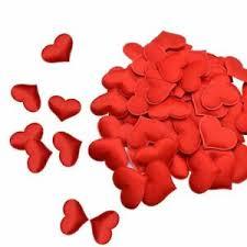 Fabric Heart Petals <b>Romantic Sponge</b> Satin <b>100 PCs</b> 30 mm Confetti ...