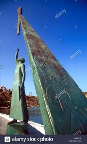 pythagoras statue stock photos pythagoras statue stock images northern aegean islands samos the monument to pythagoras in pythagorion stock image