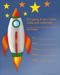 kids birthday party invitations printable st birthday space rocket birthday invitation