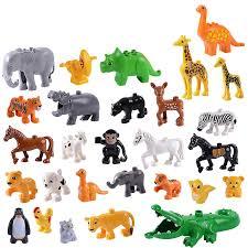 Legoing Duplo Animals Panda Dog <b>Giraffe Elephant</b> Penguin Horse ...